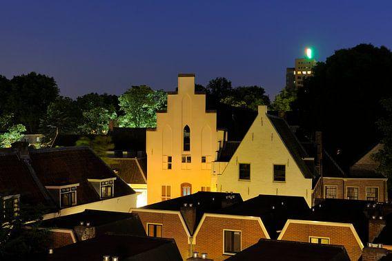Zicht op Grand Hotel Karel V aan de Springweg in Utrecht
