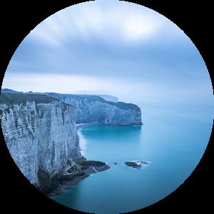 Kliffen van Étretat in Normandië van Jens De Weerdt
