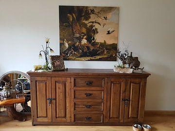 Kundenfoto: Der Rabe wird der Federn beraubt, mit denen er sich geschmückt hatte - Melchior d 'Hondecoeter