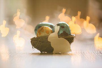 Paas bunnies alom van Tania Perneel
