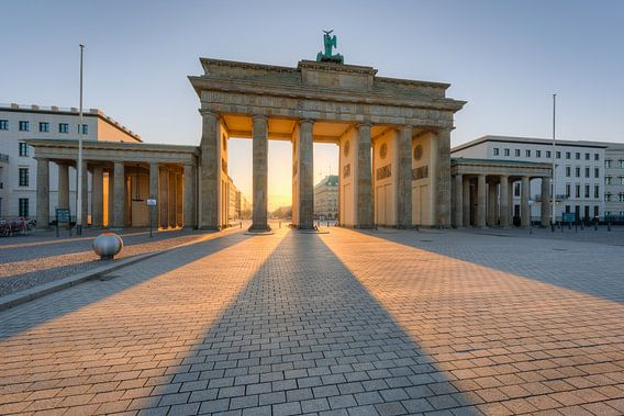 Brandenburg Gate in the morning