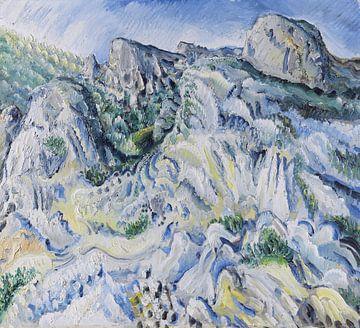 Felslandschaft bei Ulm (Landschaft bei Blaubeuren), Paul Kleinschmidt,  1929 von Atelier Liesjes