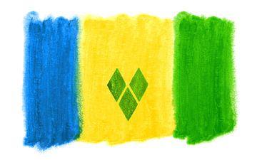 Symbolische nationale vlag van Saint Vincent van Achim Prill