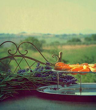 Lavendel en abrikoos. van Borgo San Bernardo