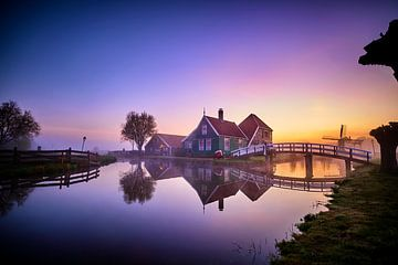 Huisje met bruggetje op de Zaanse Schans