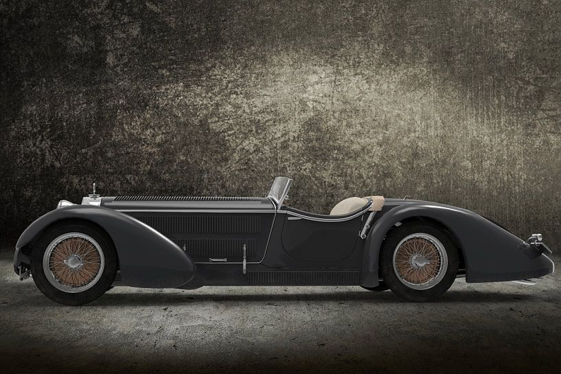 Retro Car grey van H.m. Soetens