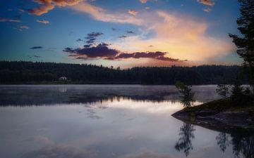 Idyllisch mooi meer in Zweden
