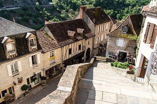 Het dorpje Rocamadour in Frankrijk