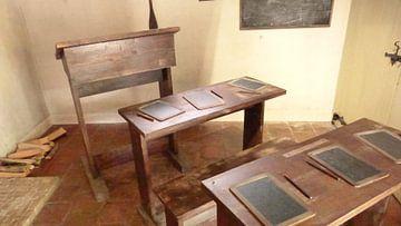 Schoolbanken van vroeger van Wilbert Van Veldhuizen