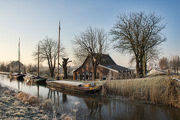 Een koude Winterochtend in Maasland von Charlene van Koesveld