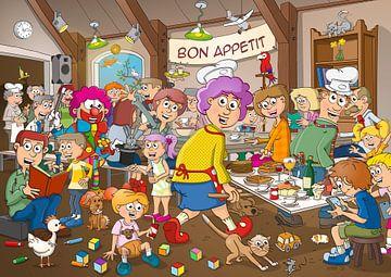 """Bon Appetit"" - illustratie van Galerie Ringoot"