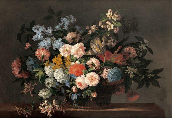 Jean-Baptiste Monnoyer, Stilleven met bloemen van Meesterlijcke Meesters