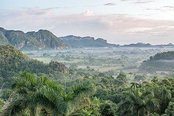 Prachtig uitzicht op Vinales-Vallei te Cuba van Celina Dorrestein