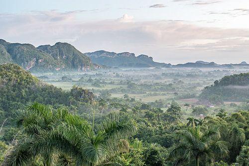Uitzicht op Vinales-Vallei te Cuba van