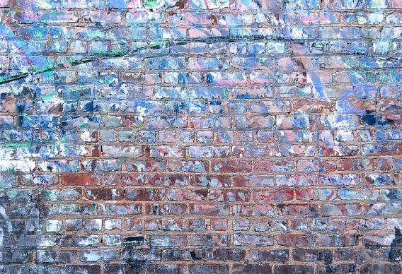 Abstracte oude stenen muur van Sigrid Klop