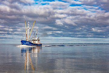 vissersboot bij lauwersoog van anne droogsma