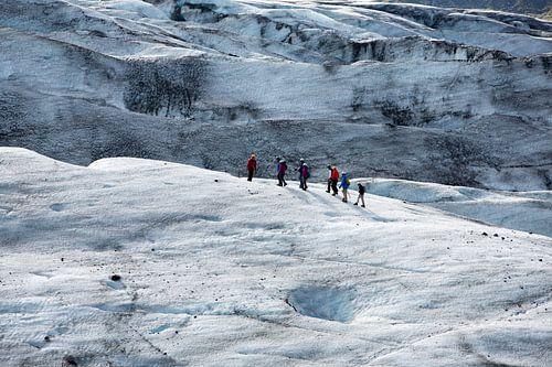 Wandelen op de gletsjer Vatnajokull van
