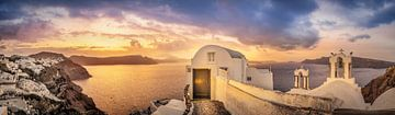 Zonsopgang over de zee in Griekenland van Fine Art Fotografie