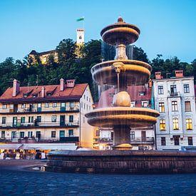 Ljubljana - Altstadt zur Blauen Stunde von Alexander Voss
