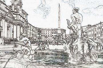 Piazza Navona, Rome van Gunter Kirsch