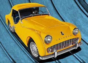 Triumph TR3 in yellow