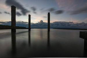 Avond in de haven / Harbour evening van Henk de Boer