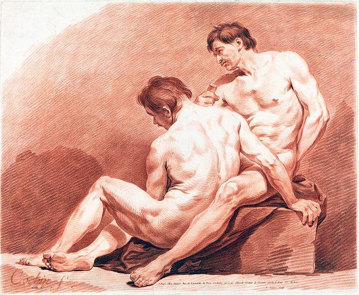 Zwei nackte Männer, Jean-François Janinet, um 1774 von Atelier Liesjes