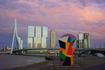 Marathonbeeld Rotterdam van Michel van Kooten