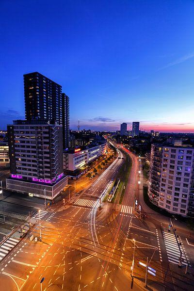 Rotterdam Vasteland in de nacht van Rob van der Teen