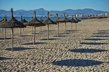 Zicht op de Platja de Palma Mallorca van Stefan Böhme