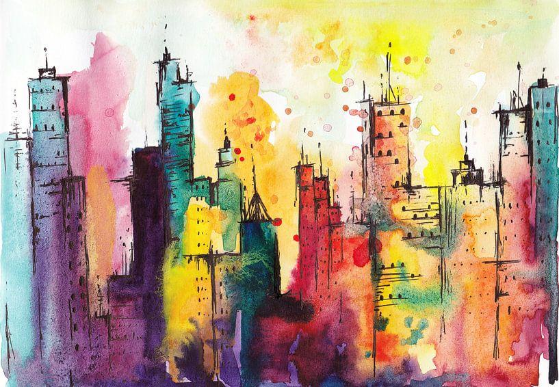 Rainbow City von Maria Kitano
