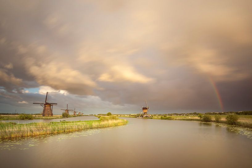 Regenboog molens Kinderdijk van Adrian Visser