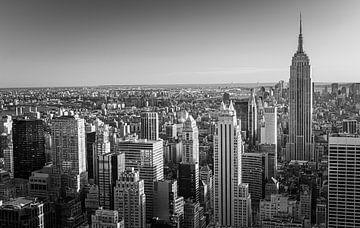 Manhattan in Zwart wit gezien vanuit Top of the Rock van Henk Meijer Photography