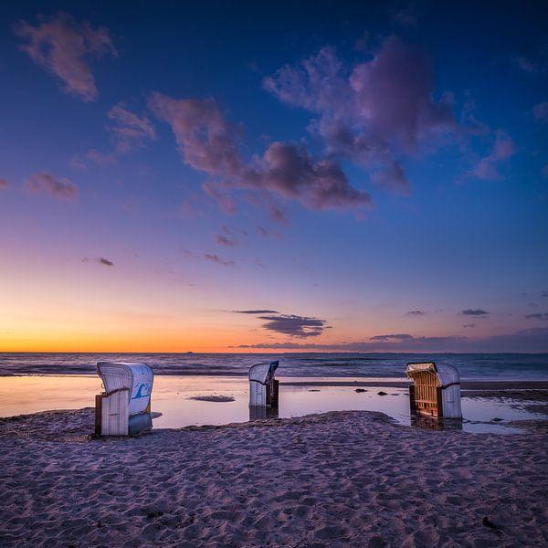 Sonnenuntergang an der Ostsee von Denis Feiner