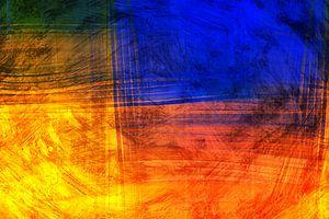 Rode Blauwe Abstract van
