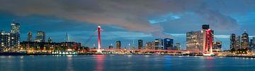 Willemsbrug Panorama Rotterdam van Martijn Kort