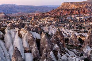Zonsondergang in Cappadocië