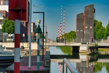 Vertikale und horizontale Linie durch das Bild von J..M de Jong-Jansen