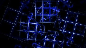 Blauw, wit, zwart beeld van Werner Hilpert