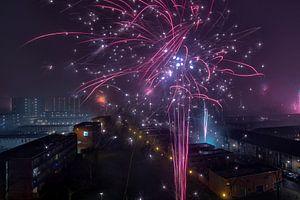 Feuerwerk zur Jahreswende (Neujahr)