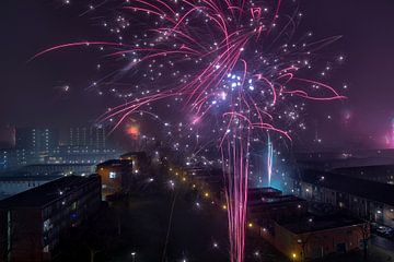 Feuerwerk zur Jahreswende (Neujahr) von Marcel Kerdijk