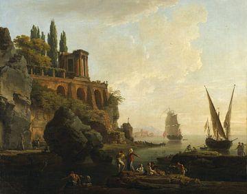 Fantasielandschaft mit italienische Hafenszene, Claude-Joseph Vernet