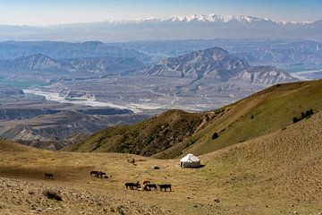 Panorama von Toguz Toro Pas Kirgisistan