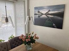 Klantfoto: Noord-Hollands  Kanaal van Johan Vet, op canvas