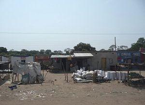 'Langs de weg', Lusaka- Zambia van