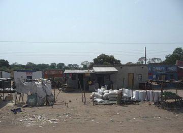'Langs de weg', Lusaka- Zambia van Martine Joanne