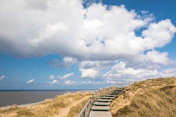 Weg door de duinen bij de Rote Kliff in Kampen, Sylt van Christian Müringer
