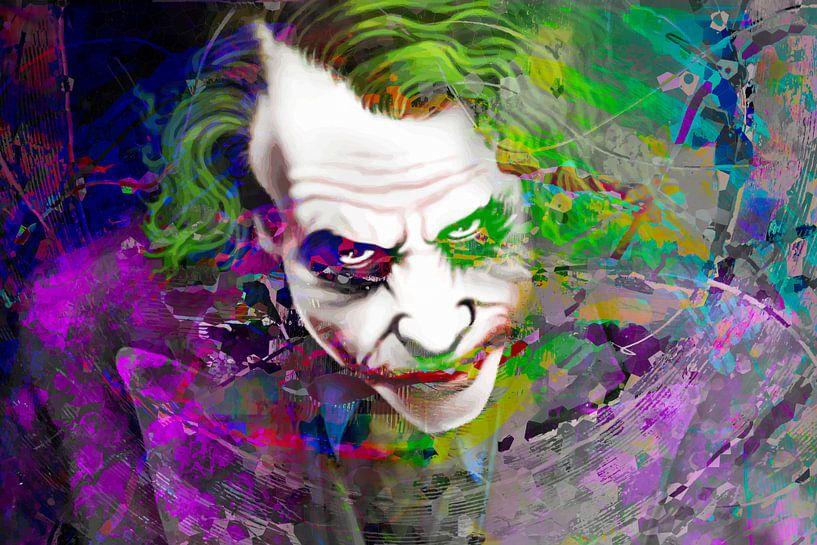 Der Joker The Dark Knight 2008 Heath Ledger von Art By Dominic