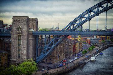 Middeleeuwse Engelse stad  NewCastle upon Tyne van Corrie Heesbeen