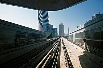 Metro-Gleise in den Vereinigten Arabischen Emiraten von Tjeerd Kruse